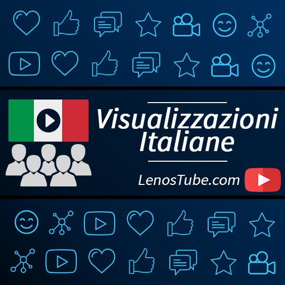 Comprare Visualizzazioni Italiane per Video YouTube