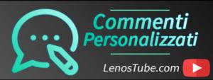 Acquisto di Commenti Personalizzati per video YouTube