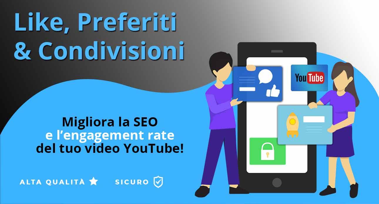 Acquistare Like e Condivisioni di Alta Qualità e Sicuri per YouTube