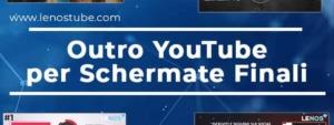 Outro per il video youTube personalizzate